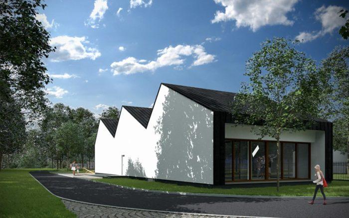 Świetlica Gminna W Łomiankach Kwadratura Biuro Architektoniczne