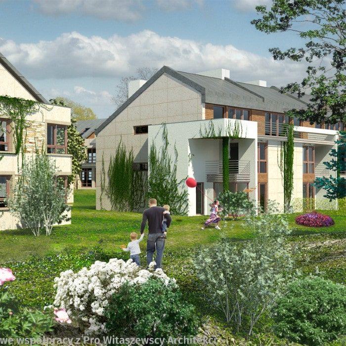 Zielony Nugat V Kwadratura Budynki Wielorodzinne